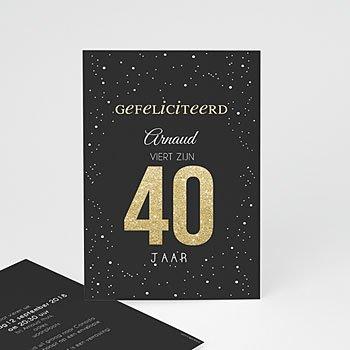 Verjaardagskaarten volwassenen - donkere 40 - 0