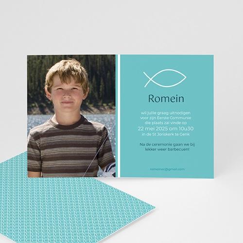 Uitnodiging communie jongen - Spiritueel samen 43211 thumb