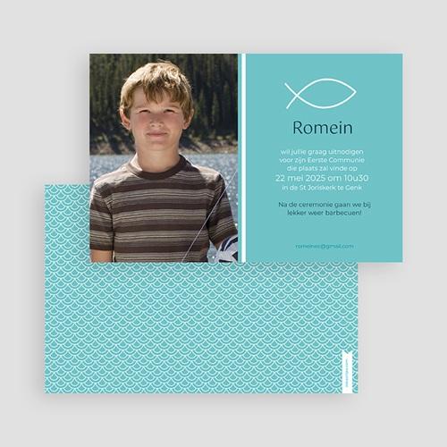 Uitnodiging communie jongen - Spiritueel samen 43213 thumb