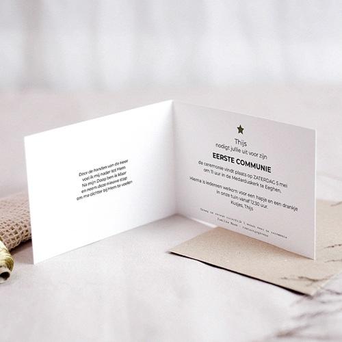 Uitnodiging communie jongen - met mooie foto 43226 thumb