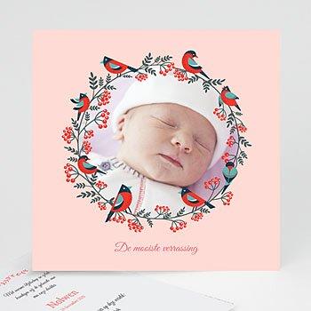 Geboortekaartje meisje - Roze droom - 0
