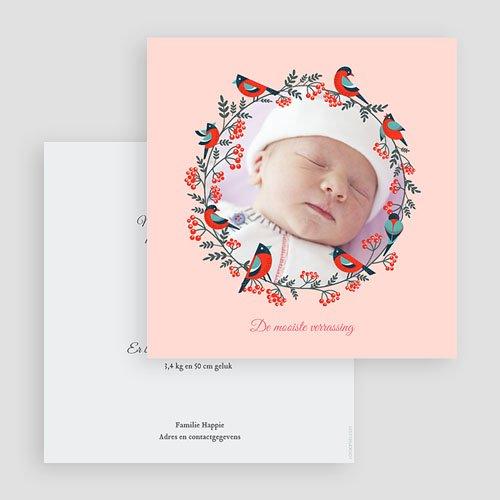 Geboortekaartje meisje - Roze droom 43374 thumb