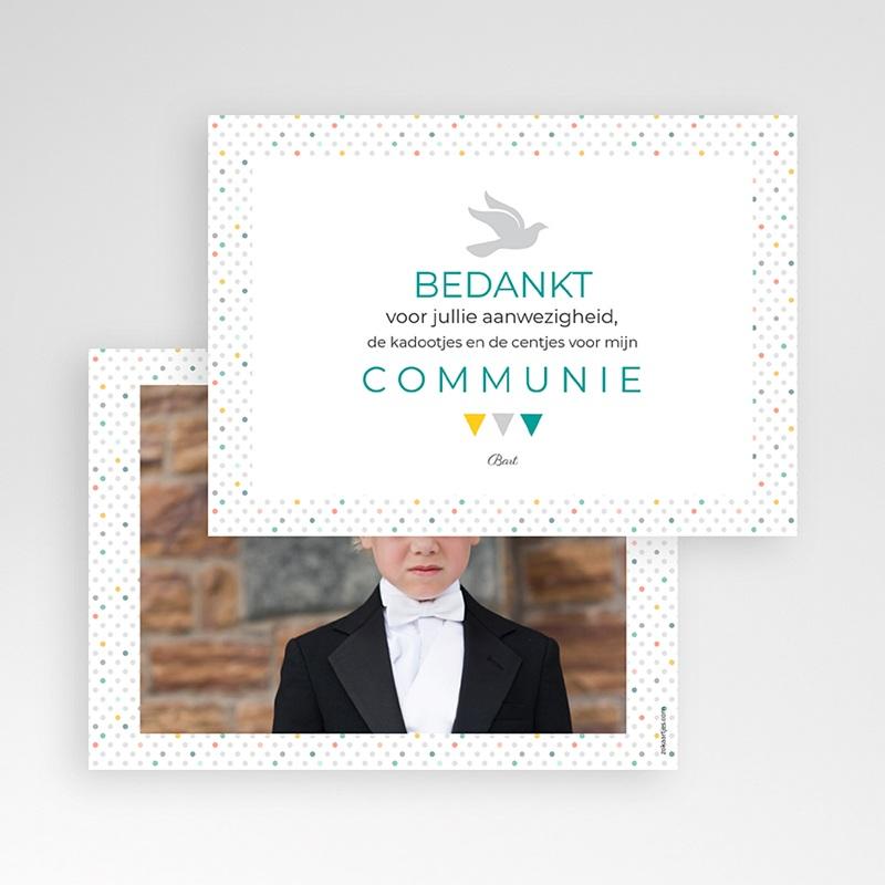 Bedankkaart communie jongen - veelvoud aan kleuren 43412 thumb