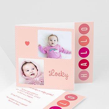 Geboortekaartje meisje - roze ter wereld - 0