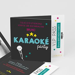 Uitnodiging Anniversaire adulte boy's karaoke