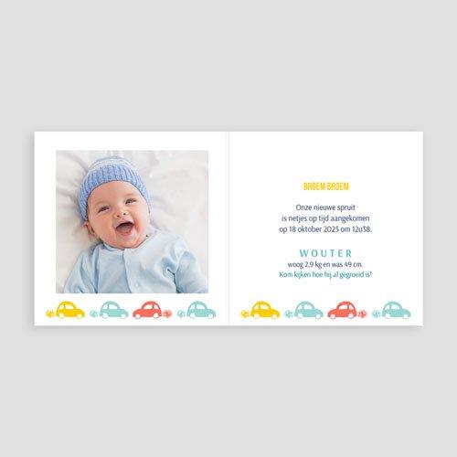 Geboortekaartje jongen - autootjes 43469 thumb