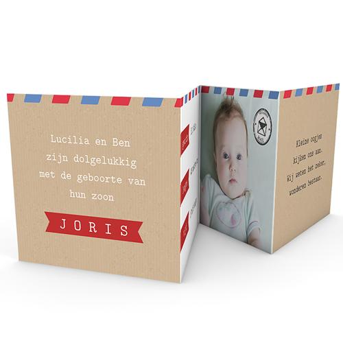 Geboortekaartje jongen - mooi reis 43501 thumb