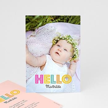 Geboortekaartje meisje - kleurvolle dag - 0