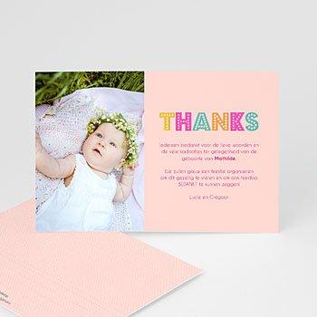 Bedankkaartje geboorte dochter - kleurvolle dag - 0