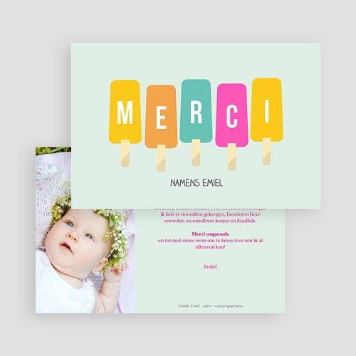 Bedankkaartje geboorte dochter - zomerkindje 43570 preview