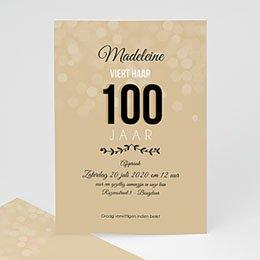 Uitnodiging Anniversaire adulte 100 jaar!