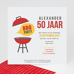 Uitnodiging Anniversaire adulte Barbecuefeest