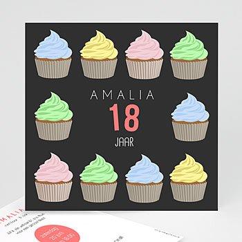 Verjaardagskaarten volwassenen - cupcake - 0