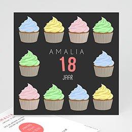Uitnodiging Anniversaire adulte cupcake
