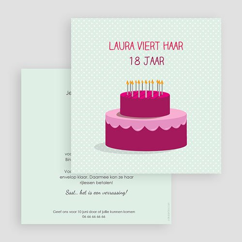 Verjaardagskaarten volwassenen Stapeltaart gratuit