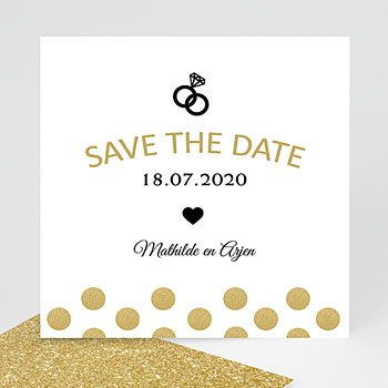 Save the date kaartjes - Love shines - 0