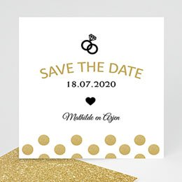 Save the date kaartjes Love shines