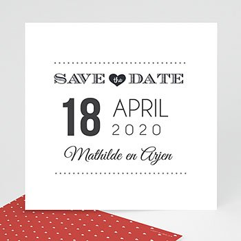 Save the date kaartjes - Aankondiging date - 0