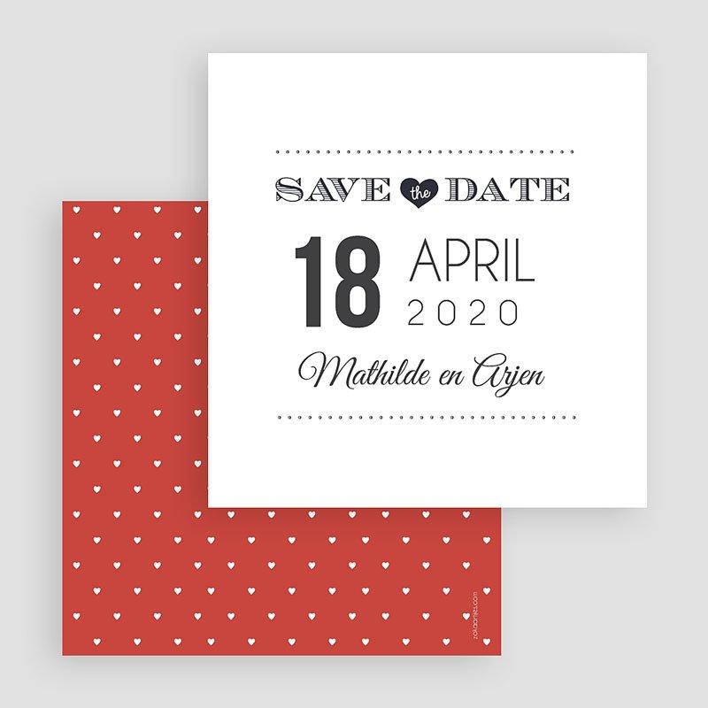 Save the date kaartjes Aankondiging date gratuit