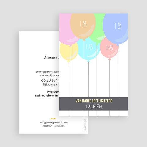 Verjaardagskaarten volwassenen - Balonnenkaart 43816 thumb
