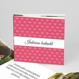 Bedankkaartjes huwelijk - Fleurs framboise - 0