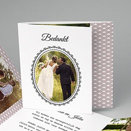 Bedankkaartjes huwelijk - Années Folles - 0
