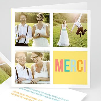 Bedankkaartjes huwelijk - Bonnes Mines - 0