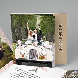 Bedankkaartjes huwelijk Love in Paris