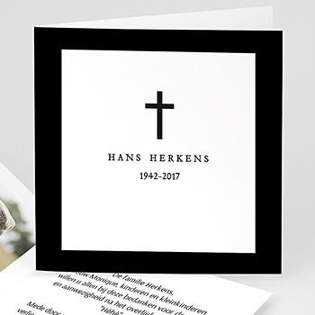 Bedankkaarten, dankbetuiging na overlijden - zwart en sober - 0
