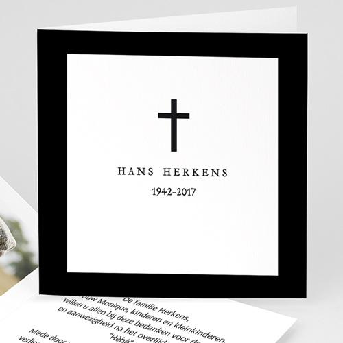 Bedankkaarten, dankbetuiging na overlijden zwart en sober