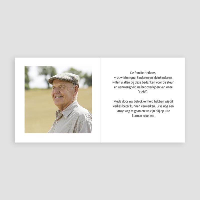 Bedankkaarten, dankbetuiging na overlijden zwart en sober pas cher