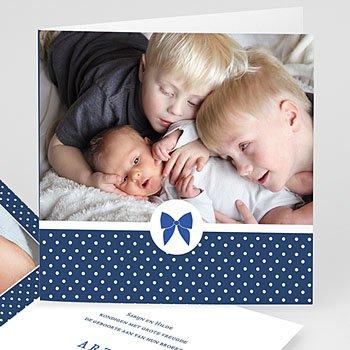 Geboortekaartje jongen - Met strikje - 0