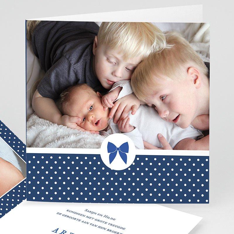 Geboortekaartje jongen - Met strikje 44388 thumb