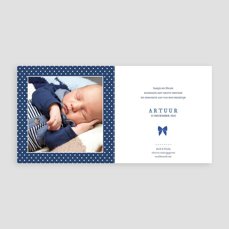 Geboortekaartje jongen - Met strikje 44389 thumb