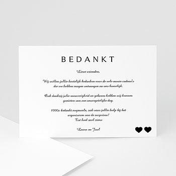 Bedankkaartjes huwelijk - Classique noir - 0