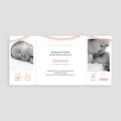 Geboortekaartje meisje - In de roze wolken 44486 thumb
