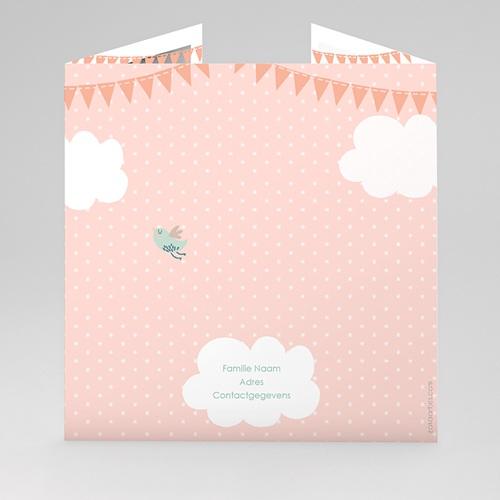 Geboortekaartje meisje - In de roze wolken 44487 thumb