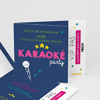 Verjaardagskaarten volwassenen - karaoke avond - 0