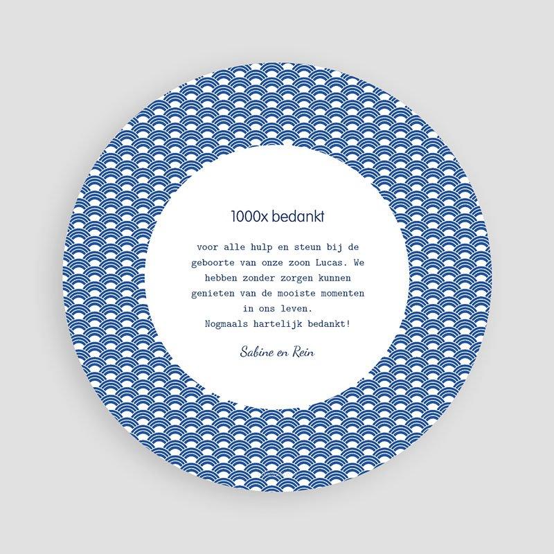 Bedankkaartje geboorte zoon - Walvisje 44562 thumb