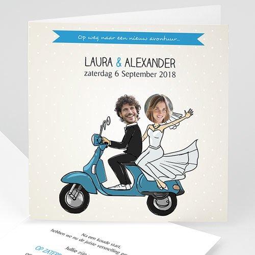 Personaliseerbare trouwkaarten - Brom brom 44569