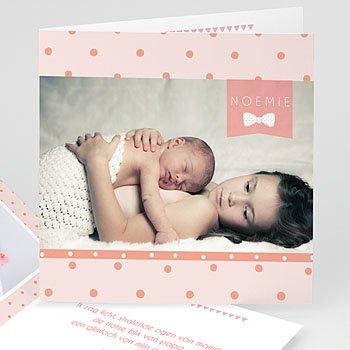 Geboortekaartje meisje - Feest voor ons - 0