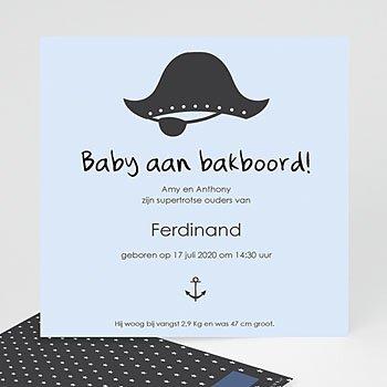 Geboortekaartje jongen - Baby piraat - 0