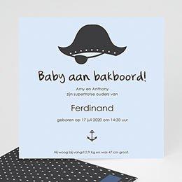 Aankondiging Geboorte Baby piraat