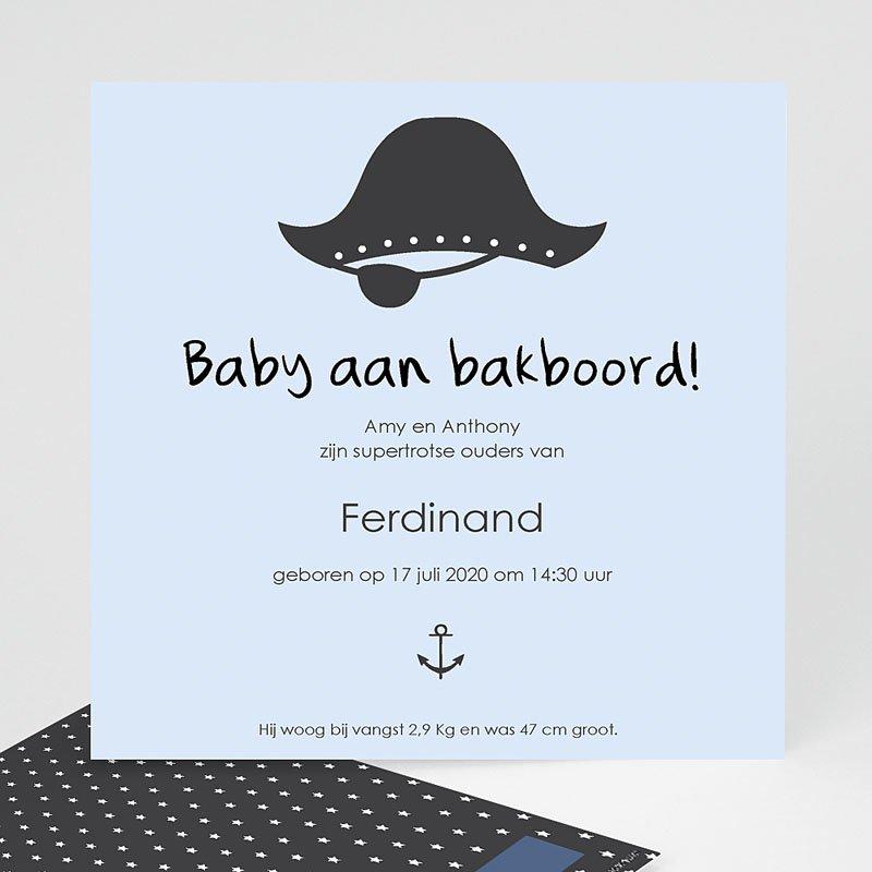Geboortekaartje jongen - Baby piraat 44646 thumb