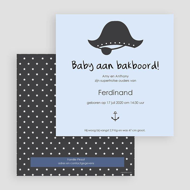Geboortekaartje jongen - Baby piraat 44648 thumb