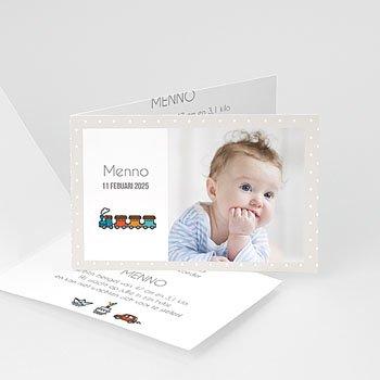 Geboortekaartje jongen - speledingetjes - 0