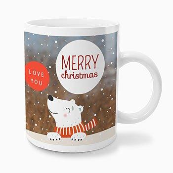 Personaliseerbare mokken - Christmas polar bear - 0