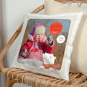 Kussens bedrukken - Christmas polar bear - 0
