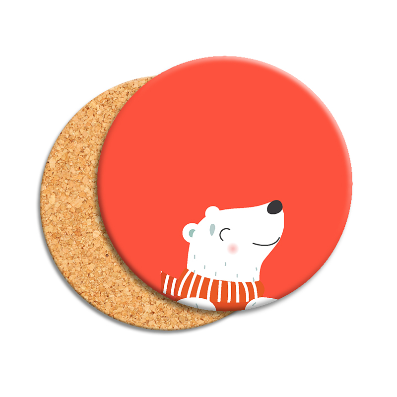 Gepersonaliseerde Foto Onderzetters Christmas polar bear