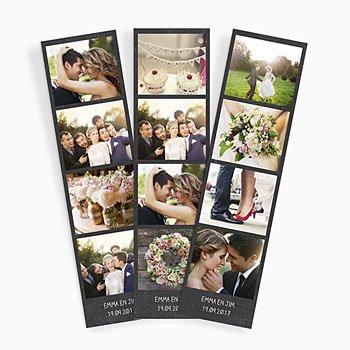 Magneetfoto's leisteen en huwelijk